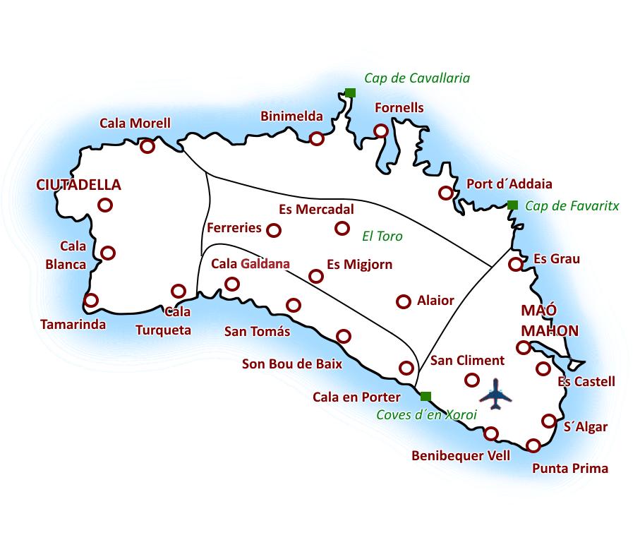 Mapa De Menorca Calas.Menorca Arba Menorka Ne Sezono Metu Hello Sunshine